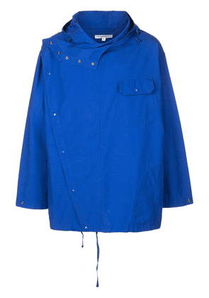 Engineered Garments double-breasted hooded jacket - Blue