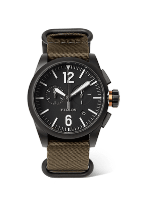 Filson - Chronograph Stainless Steel and Webbing Watch - Men - Black