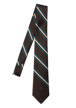 7cm Logo Detail Striped Silk Tie