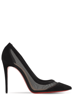 100mm Galativi Mesh & Suede Pumps