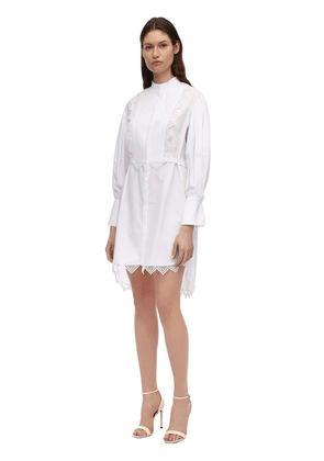 Cotton Poplin & Lace Shirt