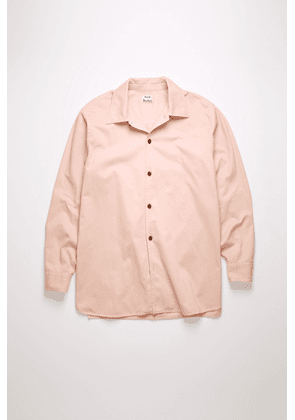 Acne Studios FN-MN-SHIR000191 Old pink Boxy-fit cotton twill shirt