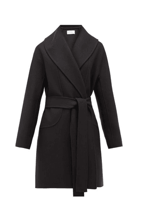 The Row - Maddy Belted Wool-blend Felt Coat - Womens - Navy