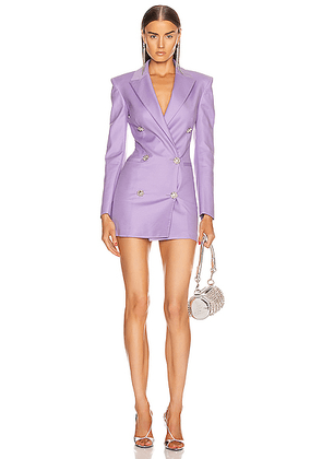 ATTICO Blazer Mini Dress in Lilac - Purple. Size 40 (also in 44).
