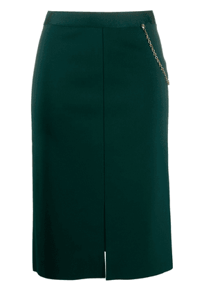 Givenchy chain detail straight skirt - Green