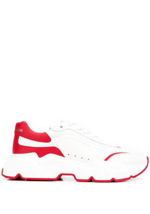 Dolce & Gabbana punch-hole low-top sneakers - White