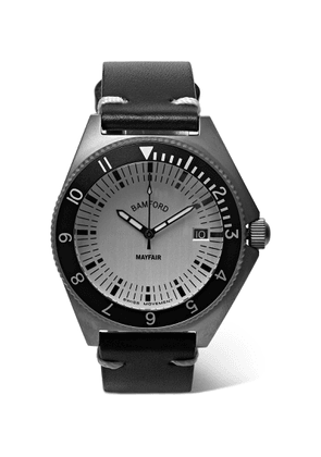 Bamford Watch Department - Mayfair Brushed Stainless Steel and Leather Watch - Men - Silver