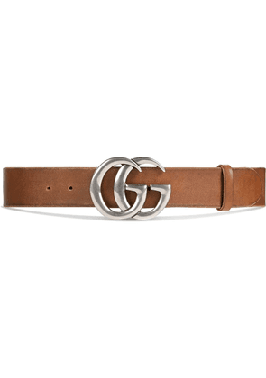Gucci Leather belt with Double G buckle - Brown