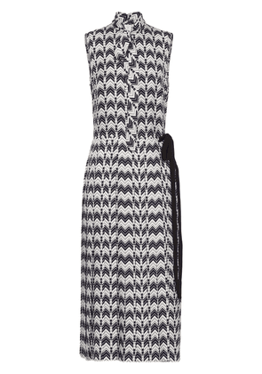 Prada chevron-motif dress - Blue