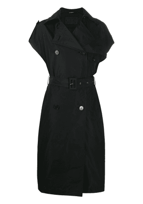 Givenchy sleeveless double-breasted trench coat - Black
