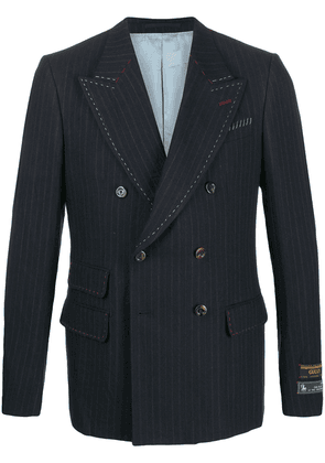 Gucci pinstriped double breasted blazer - Blue