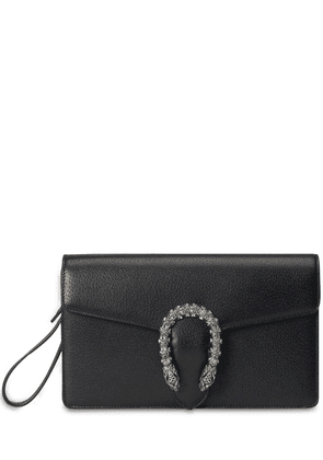 Dionysus Crystal Buckle Leather Clutch