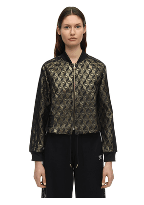 Jacquard Monogram Zip-up Track Top