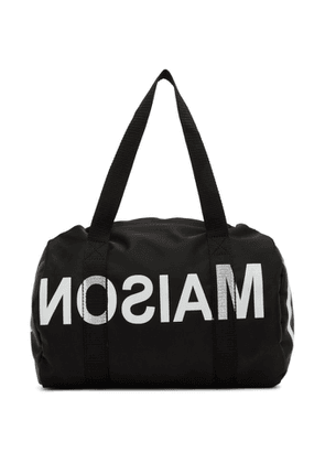 MM6 Maison Margiela Black Small Duffle Bag