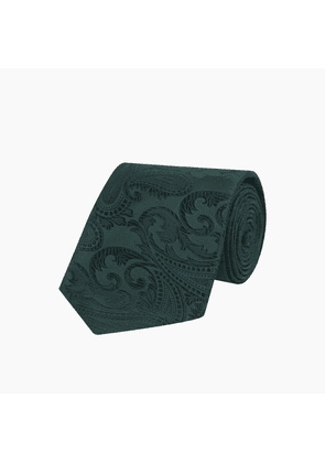 Forest Green Paisley Silk Tie