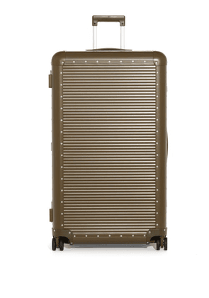 Fabbrica Pelletterie Milano - X Nick Wooster Bank Spinner 68 Check-in Suitcase - Womens - Khaki