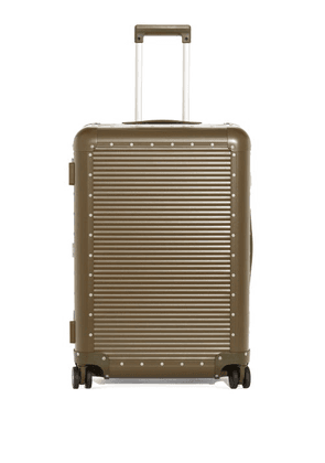Fabbrica Pelletterie Milano - X Nick Wooster Bank Spinner 84 Check-in Suitcase - Womens - Khaki