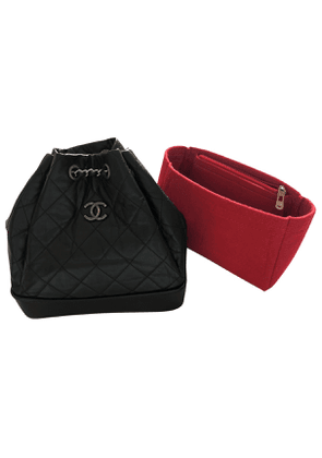 Chanel gabrielle black leather backpacks