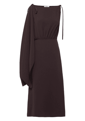 Prada satin sablé dress - Brown
