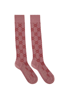 Gucci Pink Crystal GG Supreme Socks