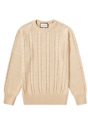 Gucci Cable Crew Knit