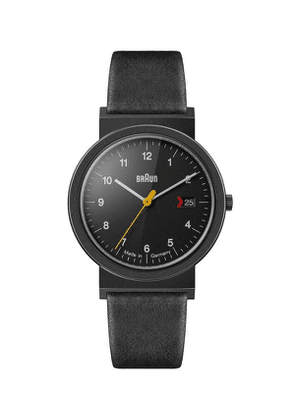 Classic Stainless Steel Leather Strap Watch