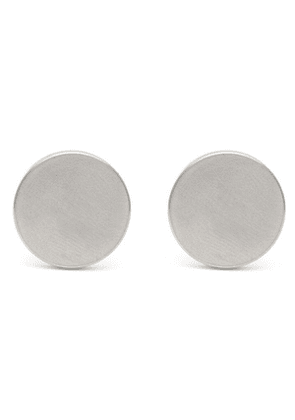 Dot Brushed Stainless-Steel Cufflinks