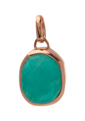 Rose Gold Plated Vermeil Silver Siren Medium Amazonite Bezel Pendant