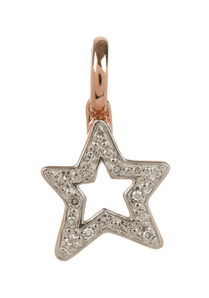 Rose Gold Plated Vermeil Silver Alphabet Diamond Star Pendant
