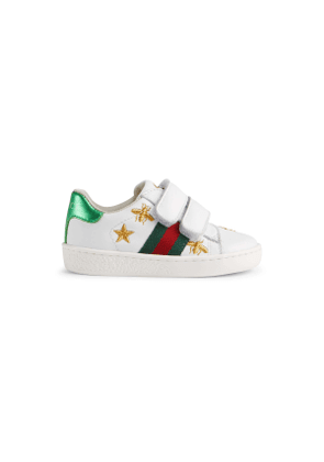 Toddler Ace sneaker with bees and stars