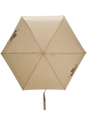 Moschino bears logo umbrella - NEUTRALS