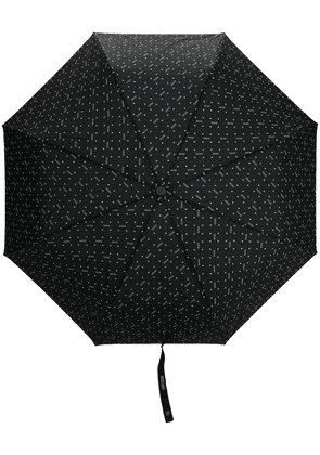 Moschino floral print umbrella - Black