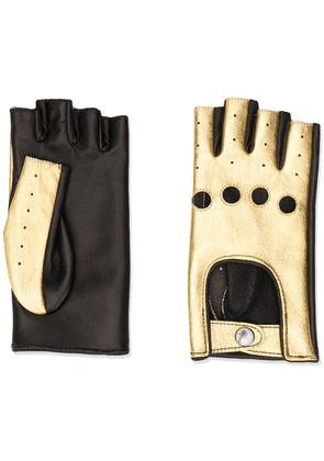 Manokhi finger-less leather gloves - Black
