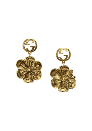 Gucci floral pendant earrings - GOLD