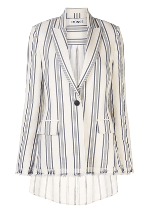 Monse striped single-breasted blazer - White