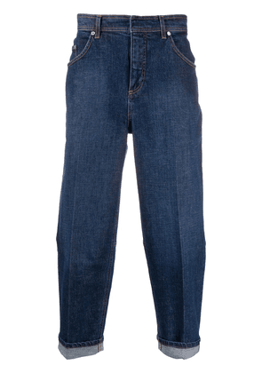 Neil Barrett loose-fit cropped jeans - Blue