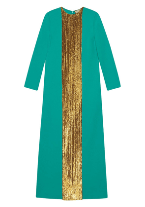 Gucci sequin-embellished long dress - Green