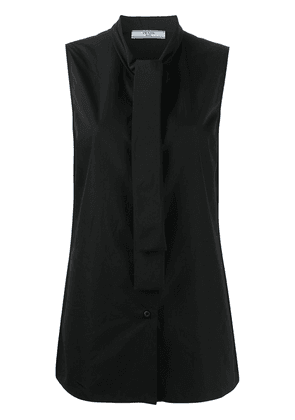 Prada sleeveless pussybow blouse - Black