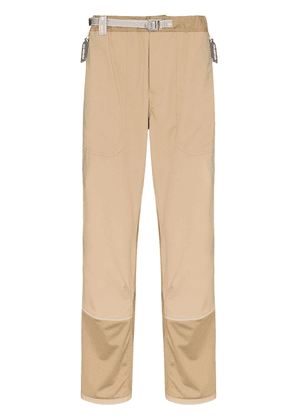 and Wander two-tone straight-leg trousers - Brown