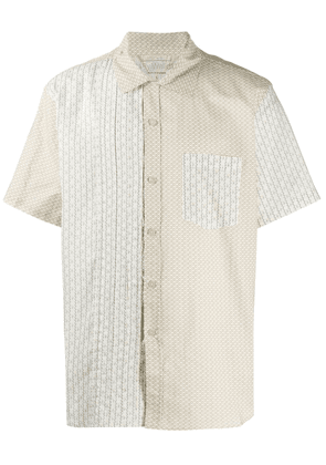 By Walid Carson panelled shirt - Yellow