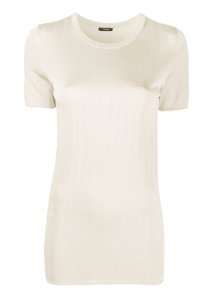 Joseph ribbed knitted top - NEUTRALS