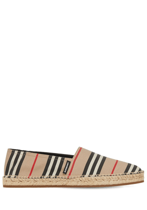 Check Tech Canvas Espadrilles