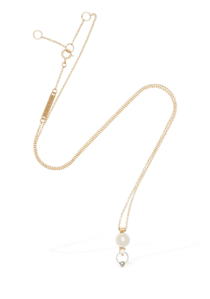 Two-in-one Diamond & Pearl Necklace