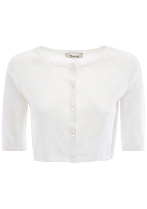 Cotton Knit Cardigan W/ Short Sleeves