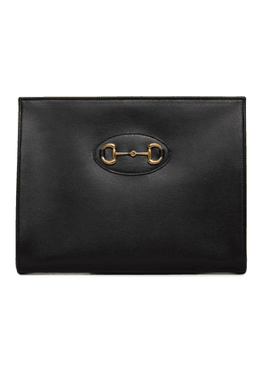 Gucci Black 1955 Horsebit Pouch