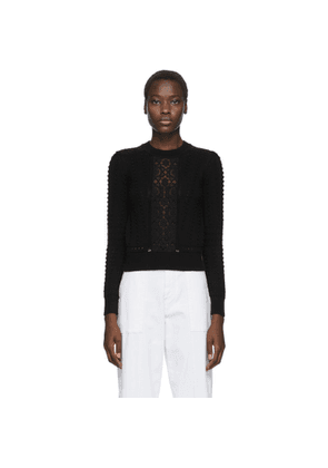See by Chloe Black Lace Fitted Sweater