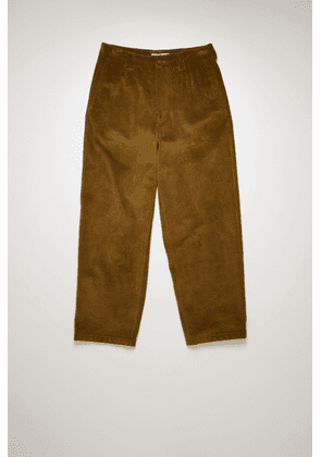 Acne Studios FN-MN-TROU000263 Olive green Tapered fit corduroy trousers