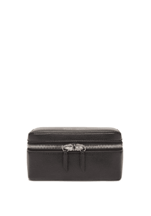 Métier - Small Grained-leather Watch Box - Mens - Black