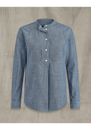 Belstaff AMABEL SHIRT Blue UK 8 /
