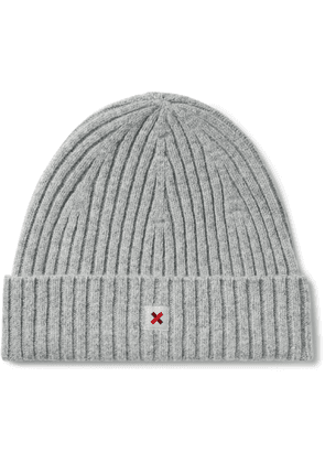 Best Made Company - Cap of Courage Logo-Appliquéd Ribbed Wool Beanie - Men - Gray